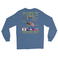 Load image into Gallery viewer, USS Coral Sea (CVA-43) 1967-68 Long Sleeve Cruise Shirt