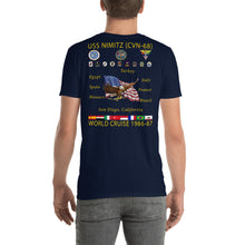 Load image into Gallery viewer, USS Nimitz (CVN-68) 1986-87 Cruise Shirt