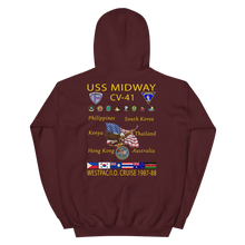 Load image into Gallery viewer, USS Midway (CV-41) 1987-88 Cruise Hoodie