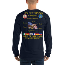 Load image into Gallery viewer, USS Peterson (DD-969) 1984 Long Sleeve Cruise Shirt