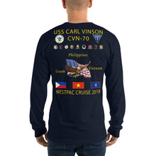 Load image into Gallery viewer, USS Carl Vinson (CVN-70) 2018 Long Sleeve Cruise Shirt