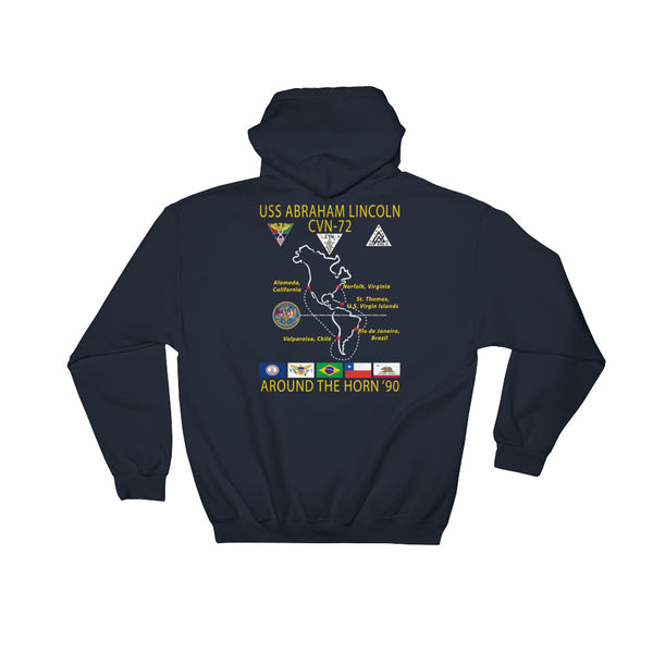USS Abraham Lincoln (CVN-72) 1990 Around The Horn Cruise Hoodie