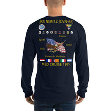 Load image into Gallery viewer, USS Nimitz (CVN-68) 1985 Long Sleeve Cruise Shirt