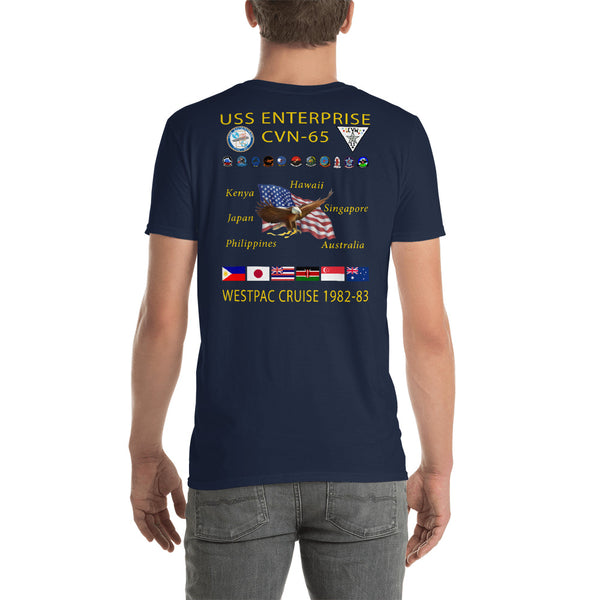 USS Enterprise (CVN-65) 1982-83 Cruise Shirt