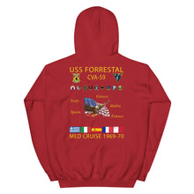 Load image into Gallery viewer, USS Forrestal (CVA-59) 1969-70 Cruise Hoodie