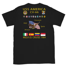 Load image into Gallery viewer, USS America (CV-66) 1984 Cruise Shirt