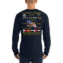 Load image into Gallery viewer, USS John F. Kennedy (CV-67) 2004 Final Long Sleeve Cruise Shirt