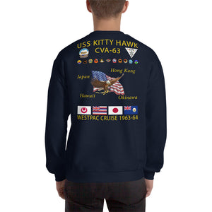 USS Kitty Hawk (CVA-63) 1963-64 Cruise Sweatshirt