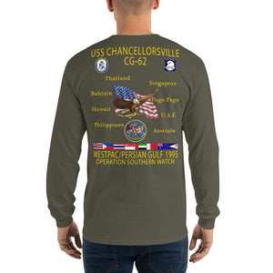 USS Chancellorsville (CG-62) 1995 Long Sleeve Cruise Shirt