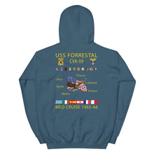 Load image into Gallery viewer, USS Forrestal (CVA-59) 1965-66 Cruise Hoodie