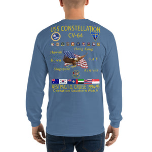 USS Constellation (CV-64) 1994-95 Long Sleeve Cruise Shirt
