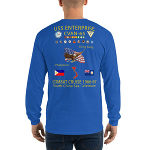 USS Enterprise (CVAN-65) 1966-67 Long Sleeve Cruise Shirt