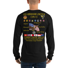 Load image into Gallery viewer, USS Abraham Lincoln (CVN-72) 2002-03 Long Sleeve Cruise Shirt