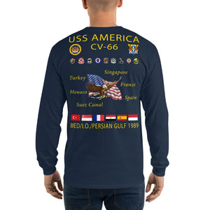 USS America (CV-66) 1989 Long Sleeve Cruise Shirt