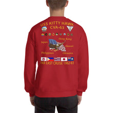 Load image into Gallery viewer, USS Kitty Hawk (CVA-63) 1962-63 Cruise Sweatshirt