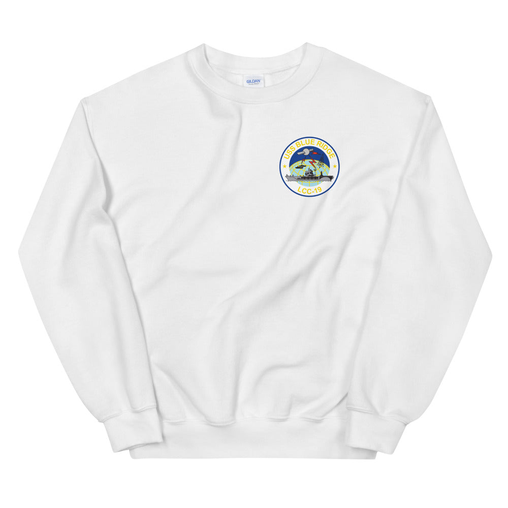 USS Blue Ridge (LCC-19) Ship's Crest Sweatshirt