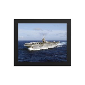USS Abraham Lincoln (CVN-72) Framed Ship Photo