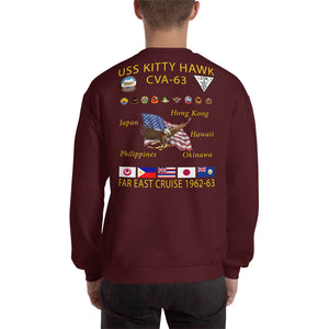 USS Kitty Hawk (CVA-63) 1962-63 Cruise Sweatshirt