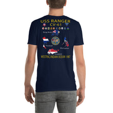 Load image into Gallery viewer, USS Ranger (CV-61) 1987 Cruise Shirt - Map