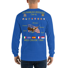 Load image into Gallery viewer, USS Franklin D. Roosevelt (CVA-42) 1960 Long Sleeve Cruise Shirt