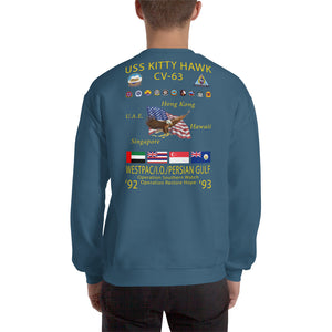 USS Kitty Hawk (CV-63) 1992-93 Cruise Sweatshirt