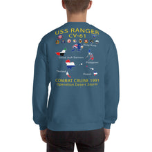 Load image into Gallery viewer, USS Ranger (CV-61) 1991 Cruise Sweatshirt - Map