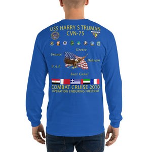 USS Harry S. Truman (CVN-75) 2010 Long Sleeve Cruise Shirt
