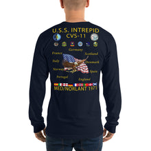 Load image into Gallery viewer, USS Intrepid (CVS-11) 1971 Long Sleeve Cruise Shirt