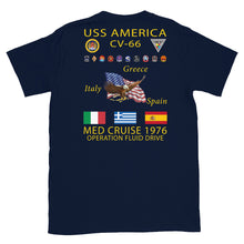 Load image into Gallery viewer, USS America (CV-66) 1976 Cruise Shirt