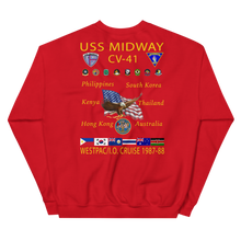 Load image into Gallery viewer, USS Midway (CV-41) 1987-88 Cruise Sweatshirt