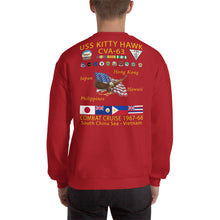 Load image into Gallery viewer, USS Kitty Hawk (CVA-63) 1967-68 Cruise Sweatshirt