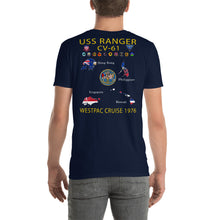Load image into Gallery viewer, USS Ranger (CV-61) 1976 Cruise Shirt - Map