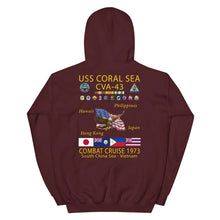 Load image into Gallery viewer, USS Coral Sea (CVA-43) 1973 Cruise Hoodie