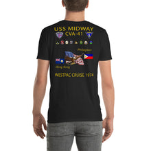 Load image into Gallery viewer, USS Midway (CVA-41) 1974 Cruise Shirt