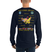 Load image into Gallery viewer, USS Iowa (BB-61) 1989 Long Sleeve Cruise Shirt