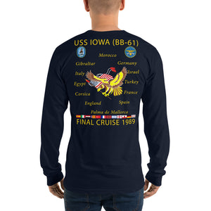 USS Iowa (BB-61) 1989 Long Sleeve Cruise Shirt