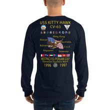 Load image into Gallery viewer, USS Kitty Hawk (CV-63) 1996-97 Long Sleeve Cruise Shirt