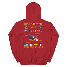 Load image into Gallery viewer, USS Forrestal (CV-59) 1975 Cruise Hoodie