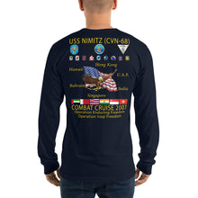 Load image into Gallery viewer, USS Nimitz (CVN-68) 2007 Long Sleeve Cruise Shirt