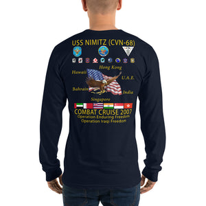 USS Nimitz (CVN-68) 2007 Long Sleeve Cruise Shirt