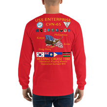 Load image into Gallery viewer, USS Enterprise (CVN-65) 1988 Long Sleeve Cruise Shirt
