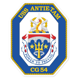 USS Antietam (CG-54) Ship's Crest Vinyl Sticker