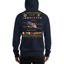 Load image into Gallery viewer, USS John F. Kennedy (CV-67) Millennium Cruise Hoodie