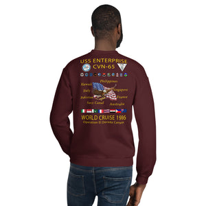 USS Enterprise (CVN-65) 1986 Cruise Sweatshirt