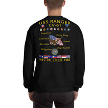 Load image into Gallery viewer, USS Ranger (CV-61) 1989 Cruise Sweatshirt
