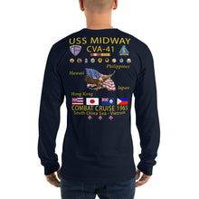 Load image into Gallery viewer, USS Midway (CVA-41) 1965 Long Sleeve Cruise Shirt