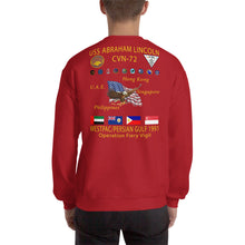 Load image into Gallery viewer, USS Abraham Lincoln (CVN-72) 1991 Cruise Sweatshirt