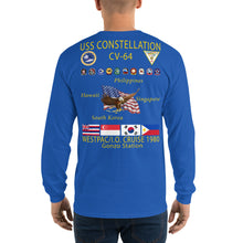 Load image into Gallery viewer, USS Constellation (CV-64) 1980 Long Sleeve Cruise Shirt