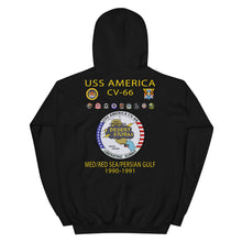 Load image into Gallery viewer, USS America (CV-66) 1990-91 Cruise Hoodie (Ver 2)