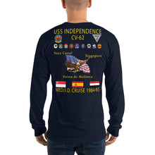 Load image into Gallery viewer, USS Independence (CV-62) 1984-85 Long Sleeve Cruise Shirt